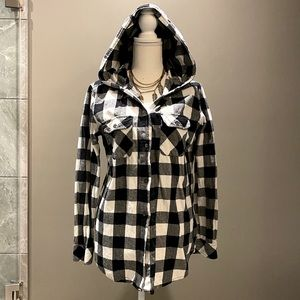 FIREFLY hooded button-up